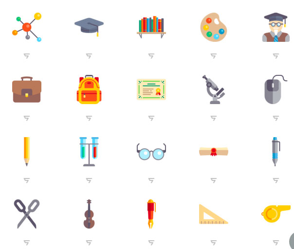 Education flat icon design material 2