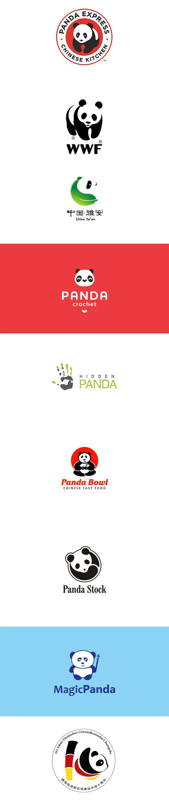 Panda element logo design 2