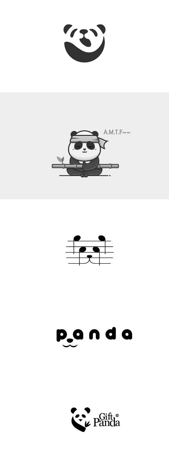 Panda element logo design 9