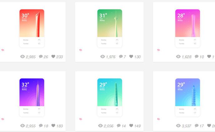 设计师自己风格的天气类APP设