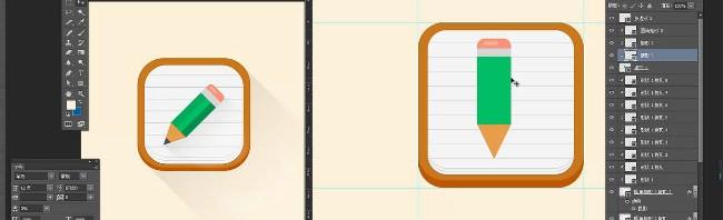 铅笔icon设计视频教程