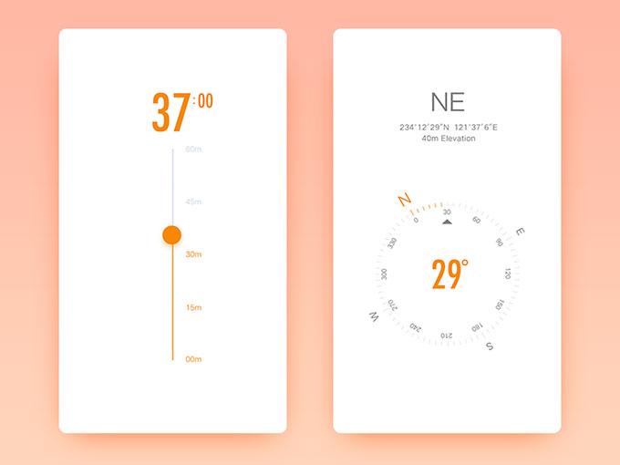 干净简洁的手机APP页面设计5