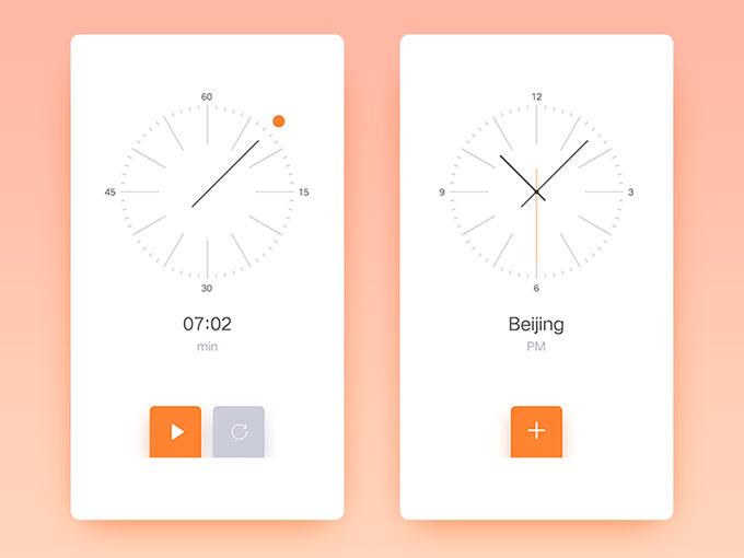 干净简洁的手机APP页面设计6