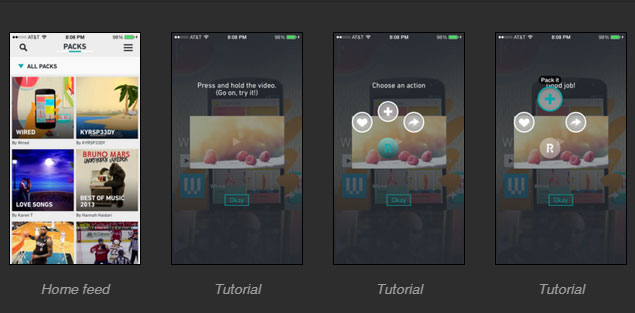 APP design inspiration to uxarchive interaction