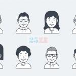 学堂君送你16个优质的APP用户头像svg素材