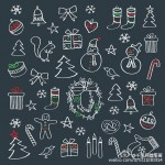 圣诞主题的简笔画绘制视频教程和简笔画素材分享