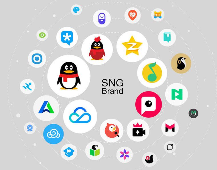 腾讯产品logo标志设计系统