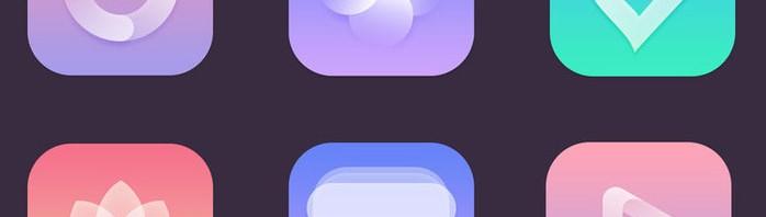 半透明叠加绘制app图标