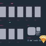 2套Sketch交互设计原型模板下载(含ipad、iphone线框图)