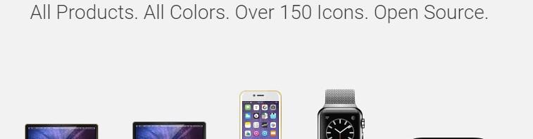 全系Apple产品图标素材