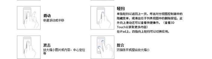 8种IOS的手势规定