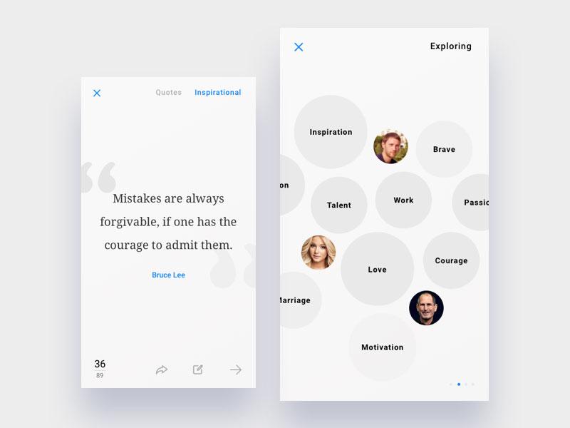 app设计匀称展示