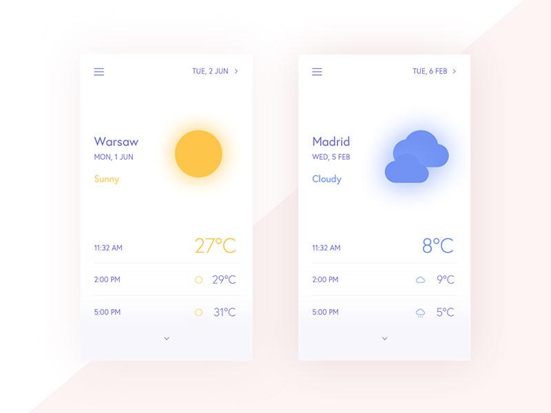 天气app界面设计欣赏
