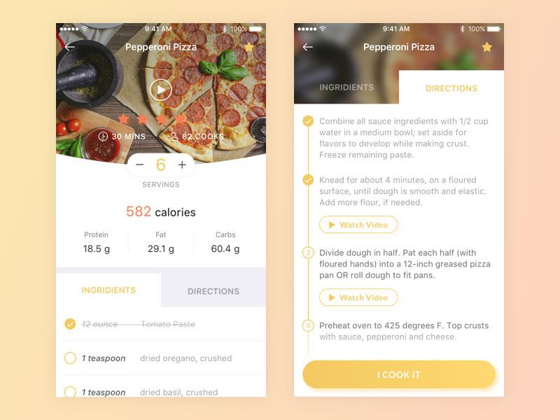 食谱餐厅类APP界面设计欣赏23