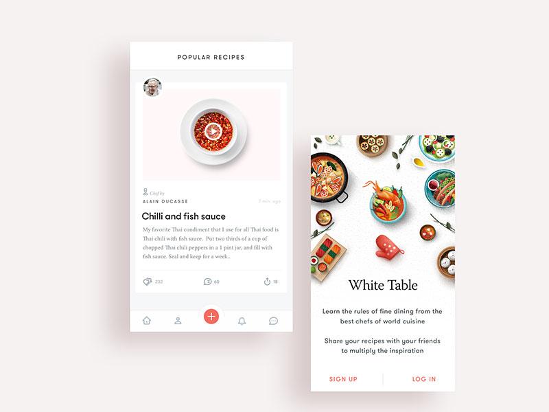食谱餐厅类APP界面设计欣赏4