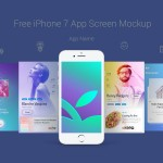 免费的iPhone 7 App 界面展示模型 Mockup PSD素材