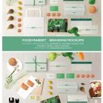 VI设计模版下载:绿色风格的美食Mockup智能贴图