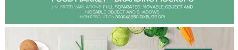 美食Mockup智能贴图(VI模板)