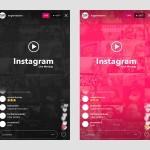 最新Instagram Live直播APP UI界面PSD素材下载