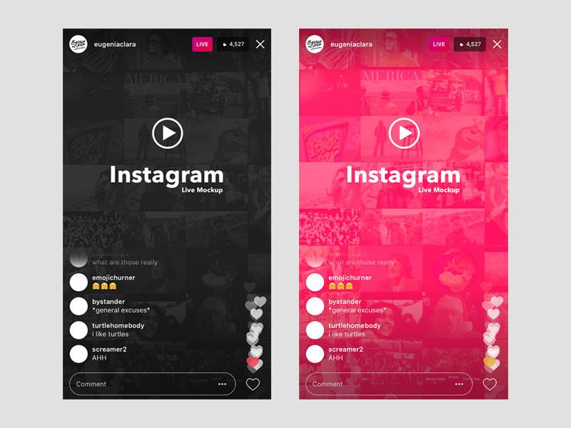 instagram-live-APP界面设计