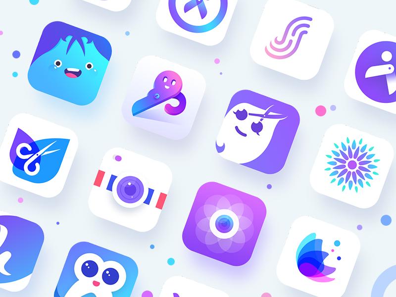 颜色艳丽的APP icon