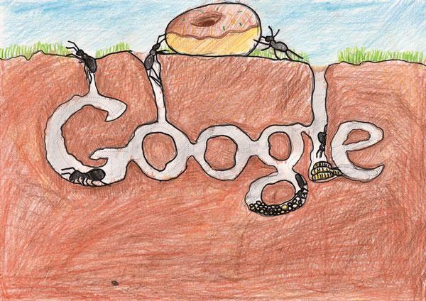 12张充满想象力的google-logo涂鸦创意设计欣赏