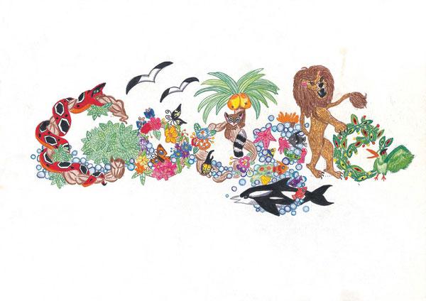 12张充满想象力的google-logo涂鸦创意设计欣赏10