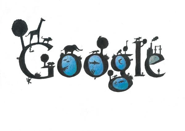 12张充满想象力的google logo涂鸦创意设计欣赏3