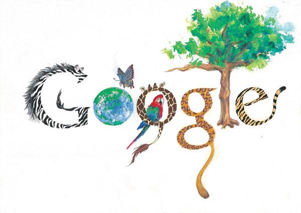 12张充满想象力的google-logo涂鸦创意设计欣赏4