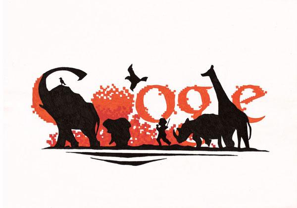12张充满想象力的google-logo涂鸦创意设计欣赏5