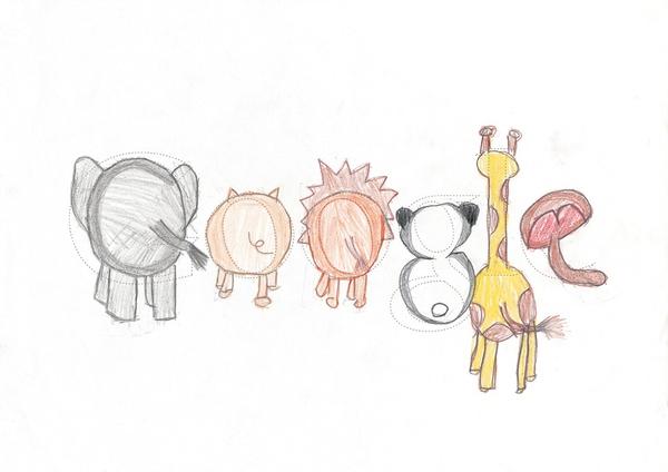 12张充满想象力的google logo涂鸦创意设计欣赏6