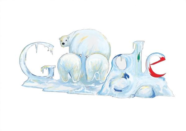 12张充满想象力的google logo涂鸦创意设计欣赏8
