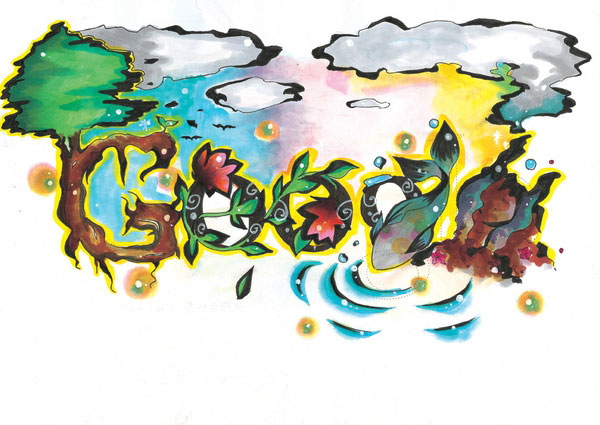 12张充满想象力的google-logo涂鸦创意设计欣赏9