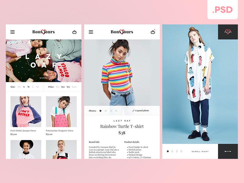 eshop-mobile-app界面设计