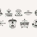 9张最具特色的复古的Logo设计模板素材下载