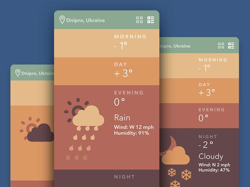 天气类APP界面设计
