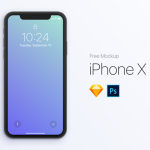 iPhone X Mockup手机模型免费下载,含PSD和sketch