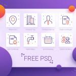 8个最流行的APP插画图标PSD素材下载
