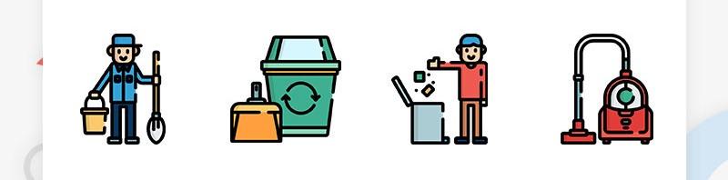 清洗类的APP插画图标素材