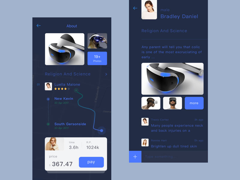 Artificial intelligence APP interface design appreciation 22