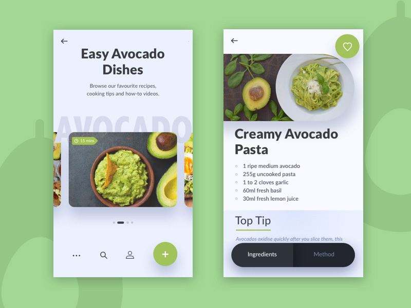 More beautiful food APP design