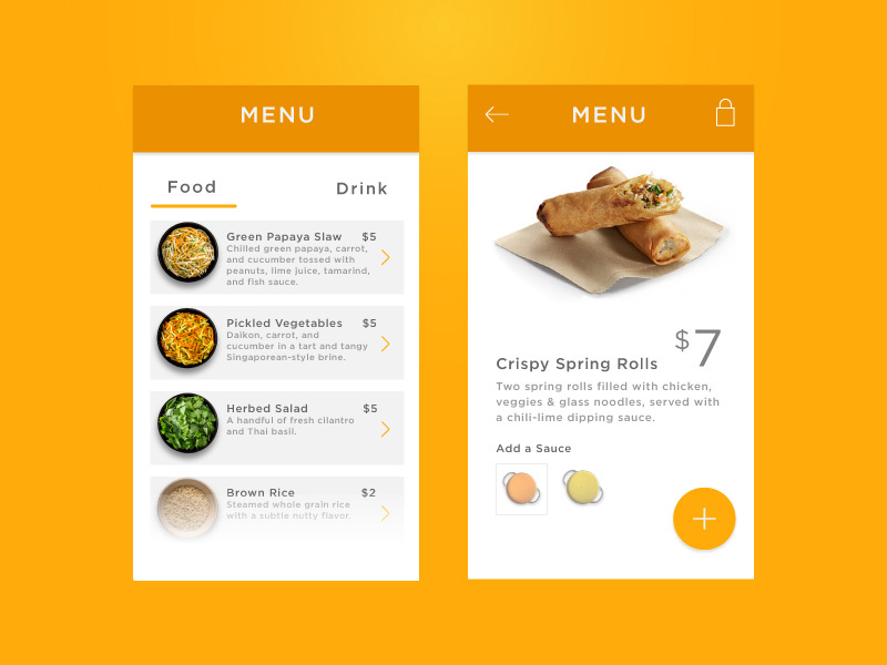 More beautiful food App Design 2