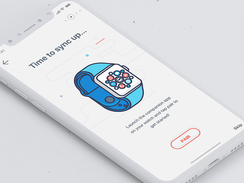 The most beautiful iphone-X- packaging APP interface design 222