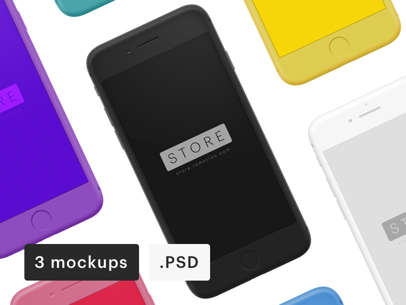 iphone-clay-frontal-mockups-psd
