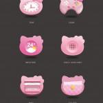 手机主题设计学习:五组可爱的动物创意形象设计