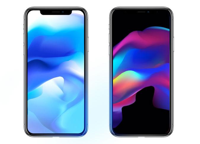iPhone8、iPhone-X壁纸设计