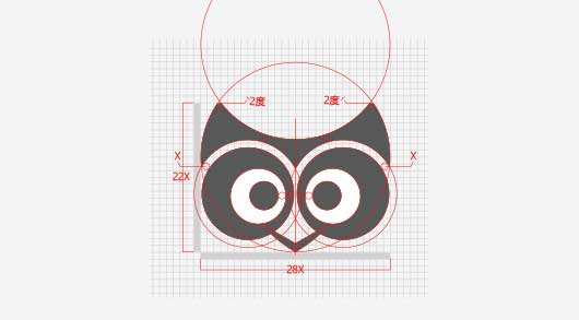 logo设计方法,圆网格设计2