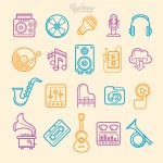 你可能会用的上的策略图标集和音乐矢量图标集