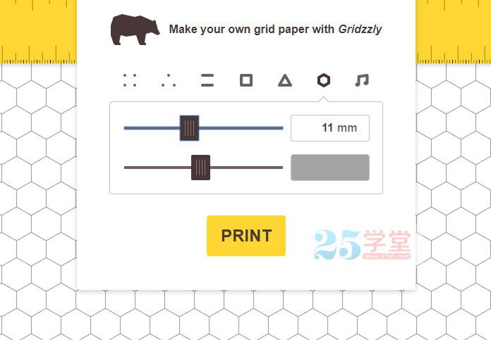 在线制作网格背景纸张的工具2