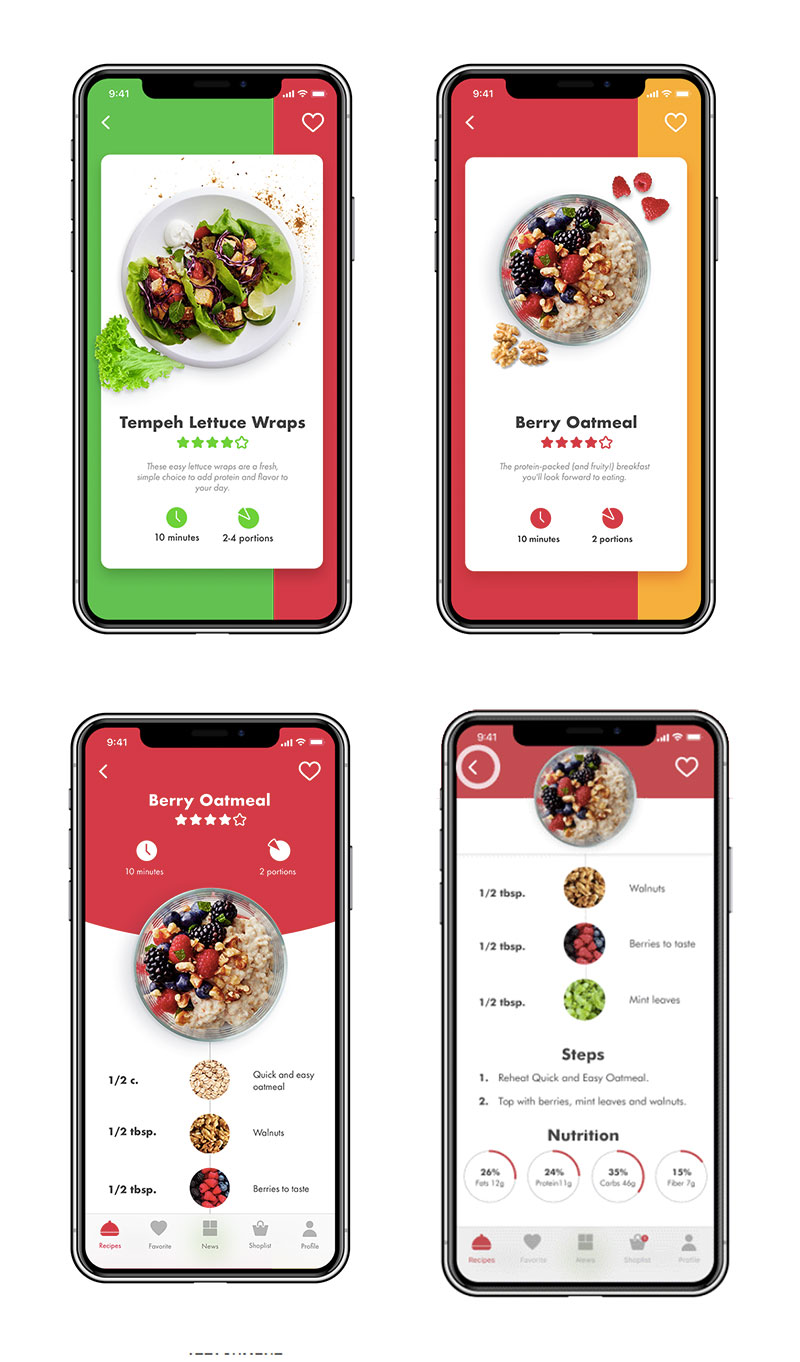 美食app交互设计vegan_recipe_app_ui_tubik